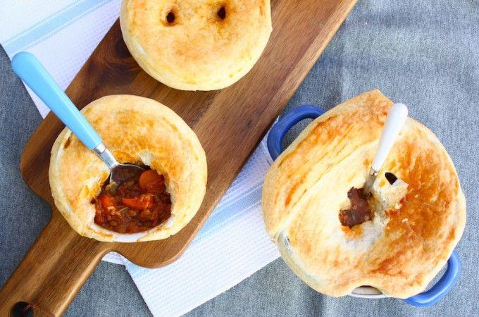 Vegetarische pot pie met pompoen - Francesca Kookt