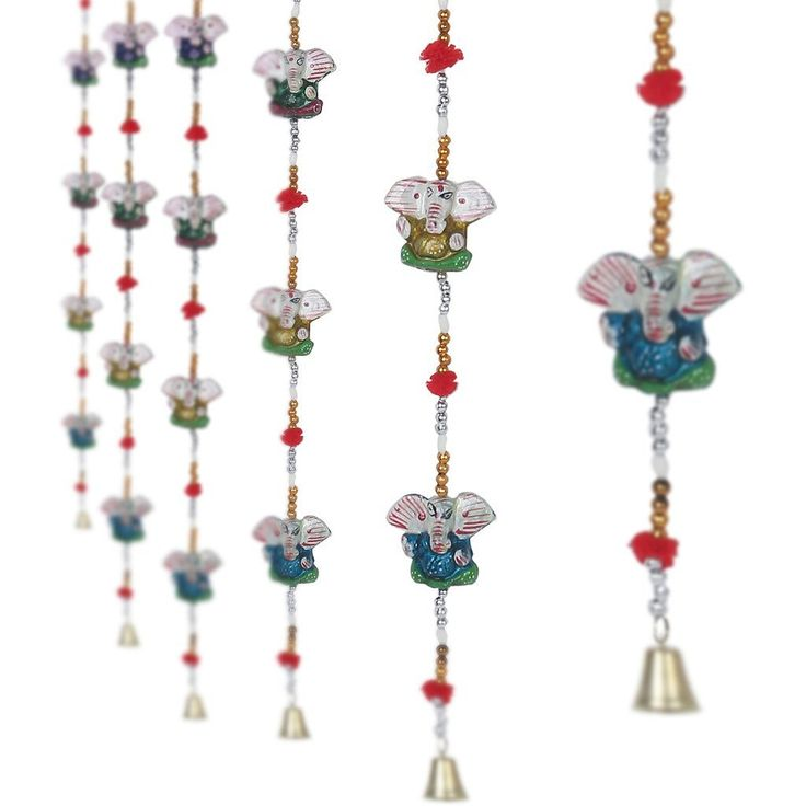 Jaipuri haat Handcrafted Lord Ganesh Door Hanging Home /Wall Décor - 5 Pair >>> Learn more by visiting the image link.