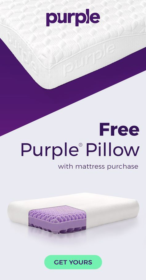 Get A Free Purple Pillow With Your Mattress Purchase While Supplies Last The Adapts To Human Body For Personalized Comfort