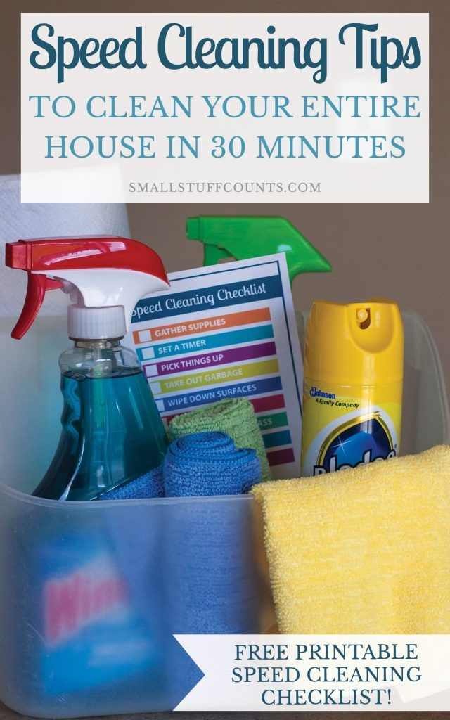 Speed Cleaning Tips For Cleaning Your Entire House In Less Than 30 Minutes Speed Cleaning Cleaning Hacks Cleaning