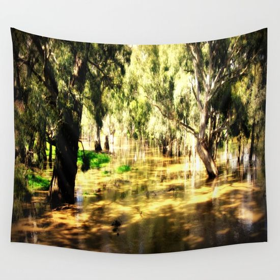 Flooded Plains Wall Tapestry