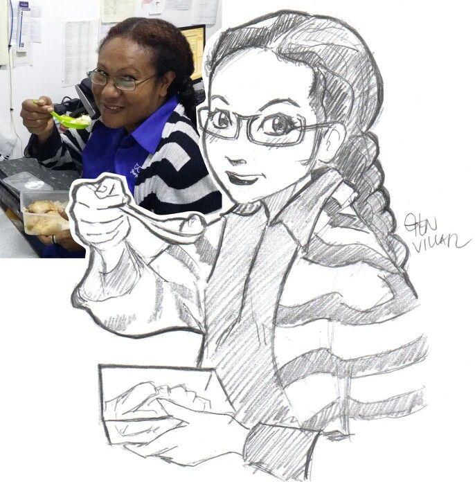 Request: Pencil anime style portrait. - Josephine
