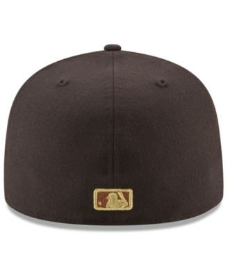 New Era Philadelphia Phillies Brown on Metallic 59FIFTY Fitted Cap - Brown 7 5/8