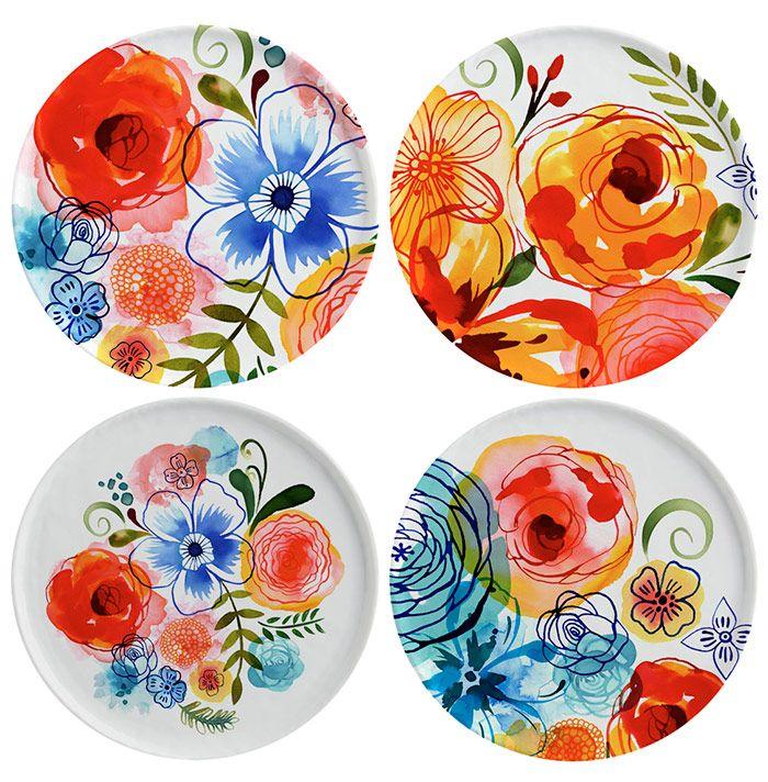 Margaret Berg Art: Artisanal Floral Plate Set