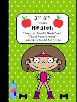 "This is a  set of 2 2nd-5th grade health lesson plans in the ""I Do, We Do, You Do"" format - Personal Health Goals and The 5 Food Groups. See preview for all included pages."