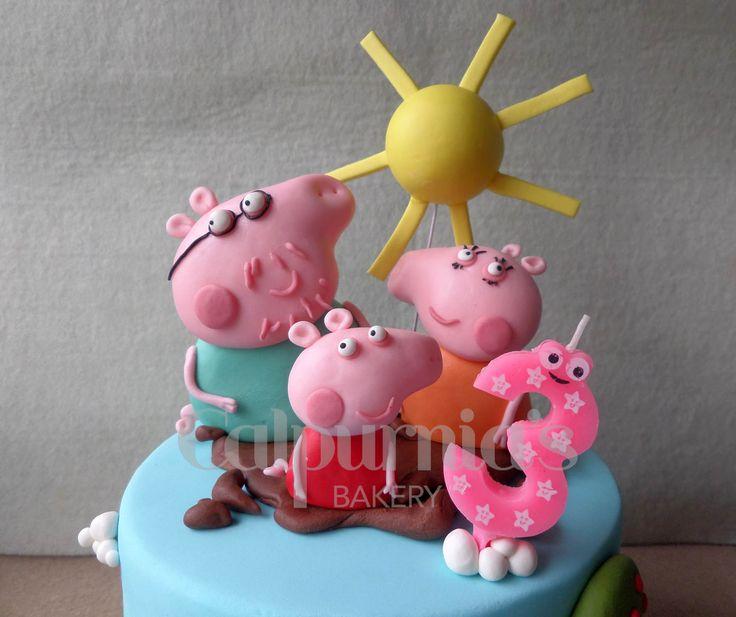 Peppa Pig Family fondant