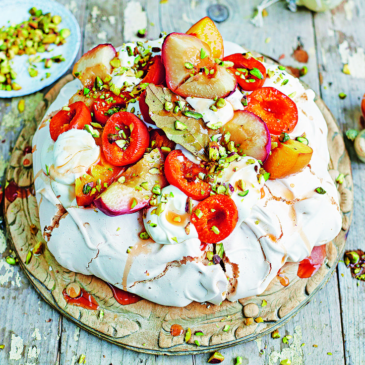 Try our delicious Baked Peach & Apricot Pav this Christmas using beautiful in season stone fruit! To save time, grab a ready-made pavlova base at Woolies!