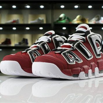 hot sale online a8c51 fd064 Nike Air More Uptempo 96 BULLS 921948 600 Varsity Red White-Black