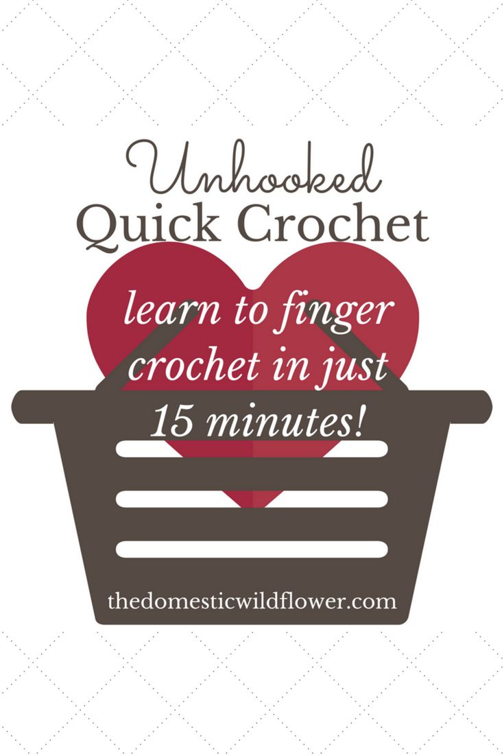 Learn to finger crochet in just 15 minutes with Jenny of The Domestic Wildflower | check out this blog post that teaches you HOW to crochet in minutes; no hook required!