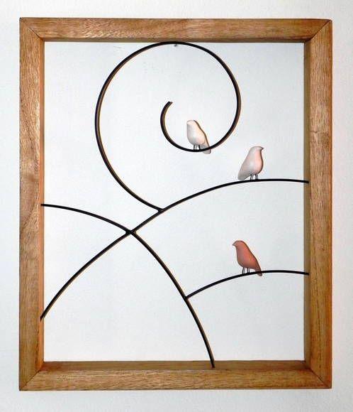 Quadro passarinhos   VILLASBRASIL   Elo7