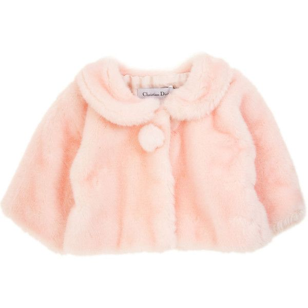 Baby Dior Faux Fur Jacket (6,190 GTQ) ❤ liked on Polyvore featuring baby, baby clothes, kids, children, baby girl, clothing & accessories and infant apparel