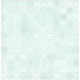 Elida Ceramica�Recycled Non Skid Light Blue Green Glass Mosaic Square Wall Tile (Common: 12-in x 12-in; Actual: 12.5-in x 12.5-in)