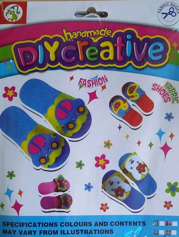 DIY Creative Fabric Shoes - KidsnCrafts Online Store