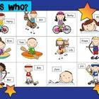 This is a simple oral language game you can play in your Jr primary or elementary class.  Open the main grid on your whiteboard (or have it photoco...