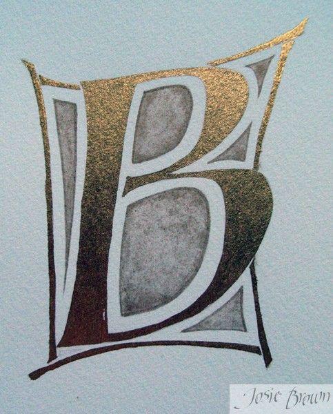 Josie Brown Calligraphy Heraldry Illumination ~ Gilding Gallery