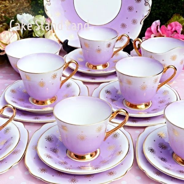 TEA SET WINDSOR china Vintage tea set for six
