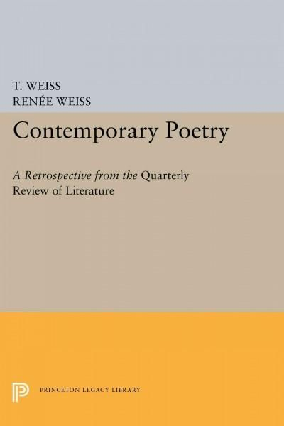 Contemporary Poetry: A Retrospective from the Quarterly Review of Literature