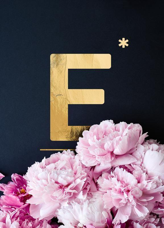 "e9ad511fe13f634eb90e49d3f8b5cde0 - ""Flower Alphabet E"" by neon * photography | #Typography #Symbols #Alphabet #Book ..."