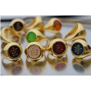 I found 'Naruto Akatsuki Full Version GOLDEN Ring Set + Necklace Chain' on Wish, check it out!