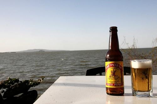 St goerge beer at Lake Tana
