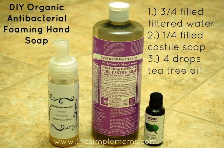 DIY antibacterial foaming hand soap...so easy!