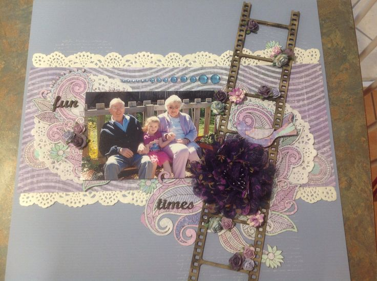 a Michelle grant kit, I used for my daughter and her great grandparents photo.