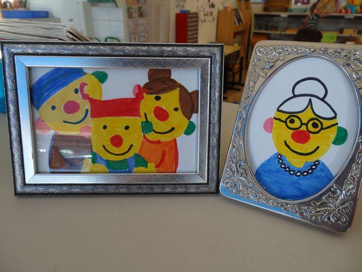 familieportret van ko - thema: bij mij thuis - ik en ko - juf ester klaver