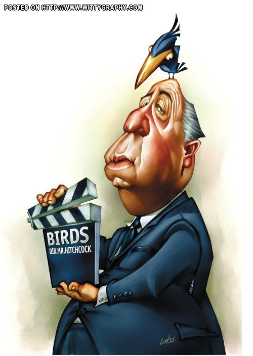 Alfred Hitchcock(film maker). The illustrator Simplycharly has named this  caricature Simply Hitchcock.