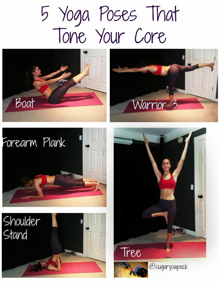 5 yoga poses for a toned core! These moves are a great way take a break from tradition crunches and ab work.