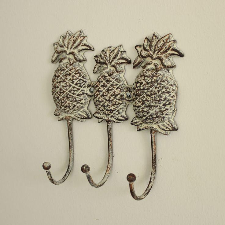 Iron Pineapple Wall Hooks