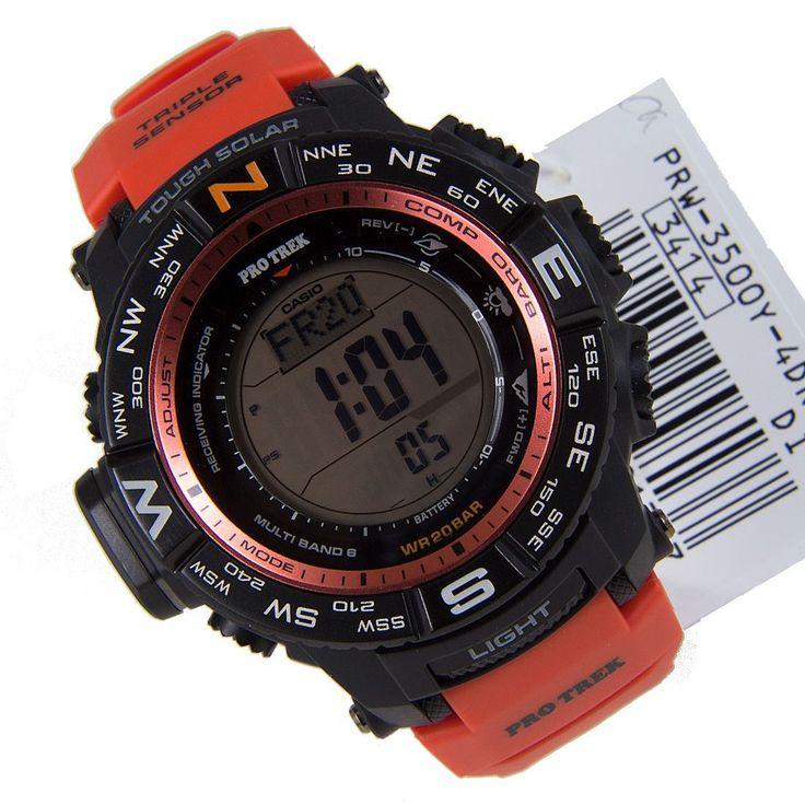 Chronograph-Divers.com - Casio Protrek Tough Solar Watch PRW-3500Y-4DR, $350.00 (http://www.chronograph-divers.com/casio-protrek-prw-3500y-4dr/)