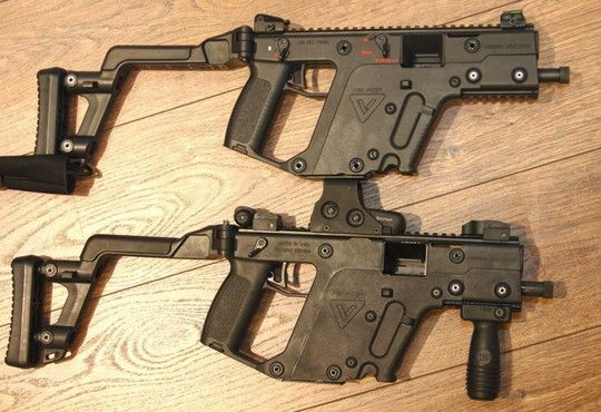 KRISS Vector airsoft gun.  shot the real one and its just ok...
