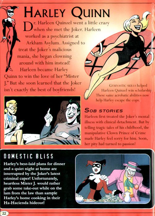 """The Relationship Between Harley Quinn and The Joker in """"Batman: The Animated Series""""."""