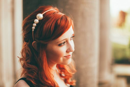 This giant pearl headband inspires Grecian vibes. Perfectly sophisticated and dreamy.