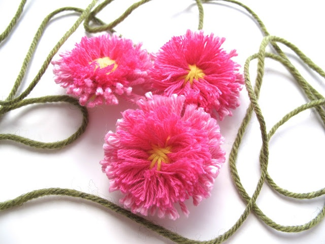 English daisies made with a flower loom