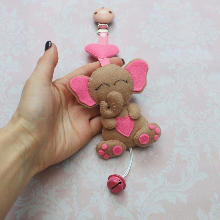 Elephant stroller toy is now available in my etsy shop + custom colors