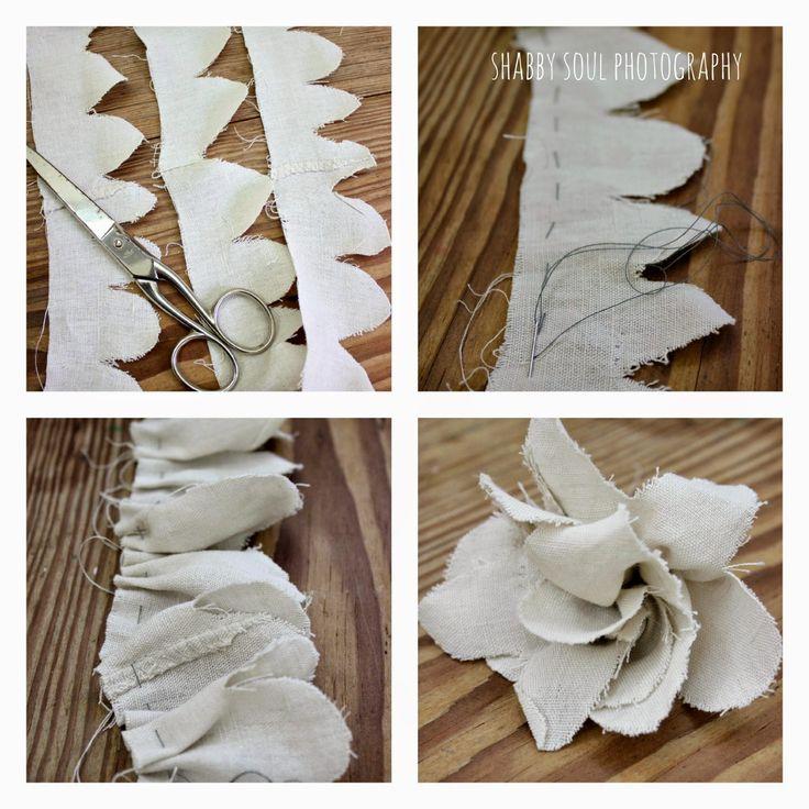 Shabby soul: Christmas DIY Romantic Wreat + Fabric Roses Tutorial