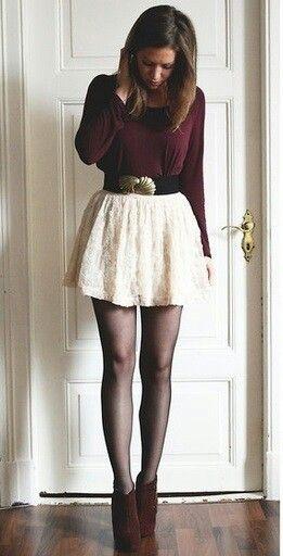 Skater skirt, tights