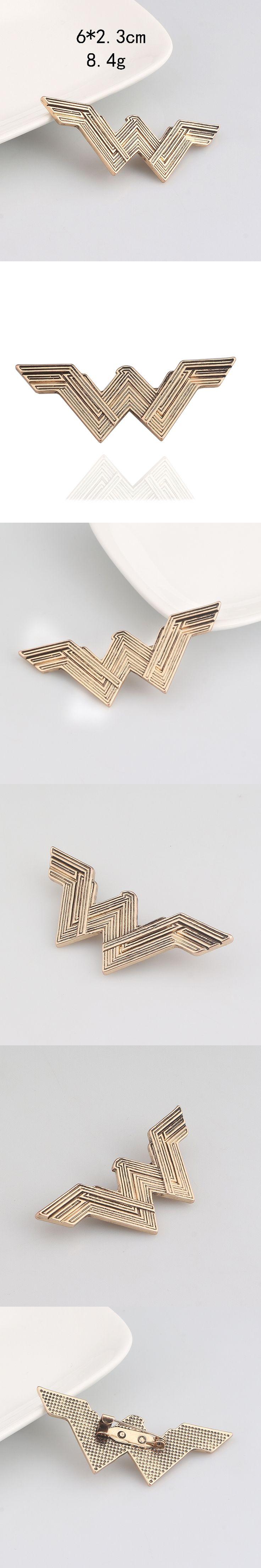 Hot Sale Super Hero Brooch Wonder Woman Badge Brooch Movie Jewelry