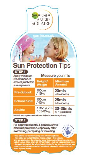Sun safety tips for the family