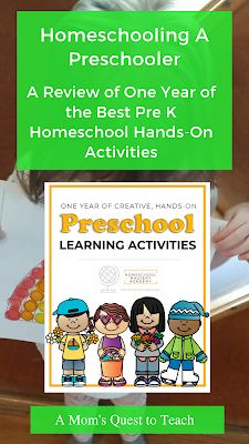 Homeschooling A Preschooler: A Review of One Year of the Best Pre K Homeschool Hands-On Activities