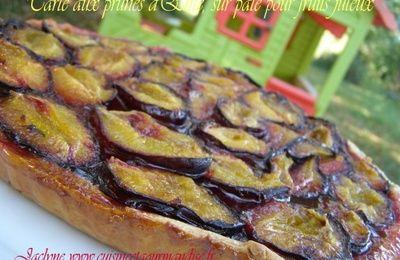 Tarte aux prunes d'Ente, (sur pâte pour fruits juteux, repérée sur le site du Thermomix