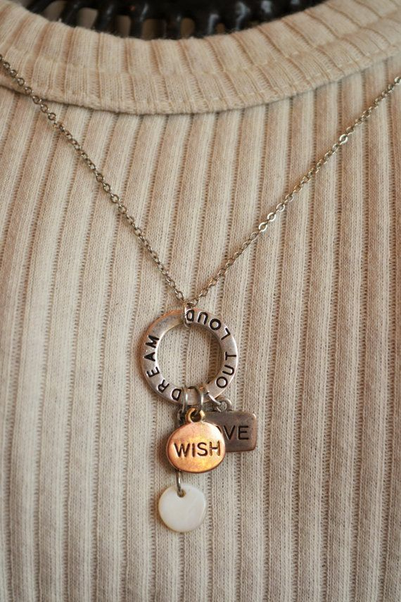 Hand Stamped Jewelry - Personalized Charms - Hand Stamped Word Charms - Made to Order Hand Stamped Charm Jewelry - Dream Out Loud on Etsy, $16.95