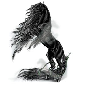 Caballo de montar Frisón Negro