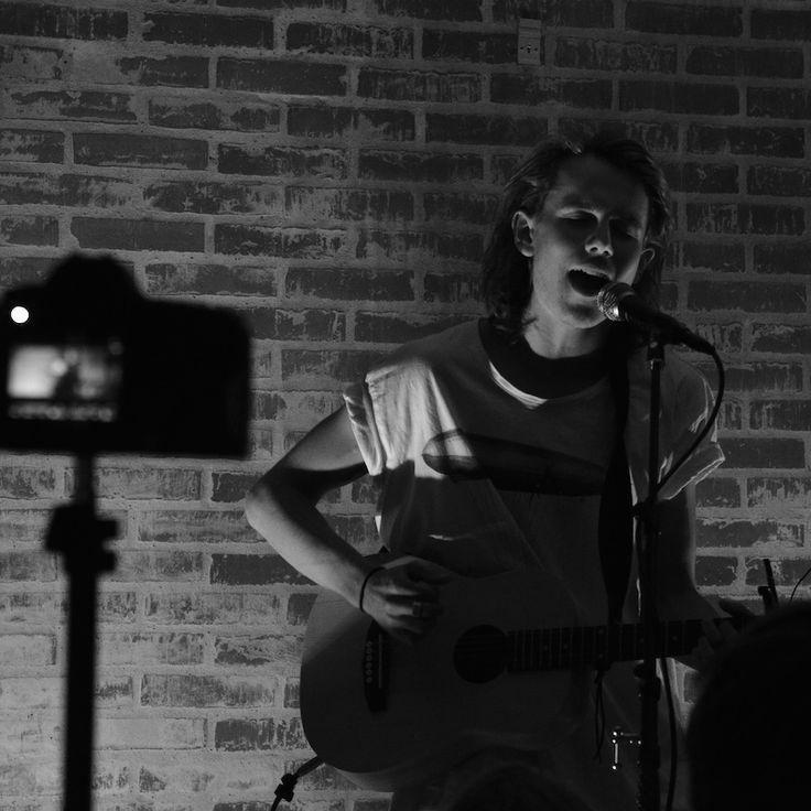 Kristoffer playing the secret show in Frederikshavn. The concept was to put together a concert in 10 hours. We made it and everyone was great.