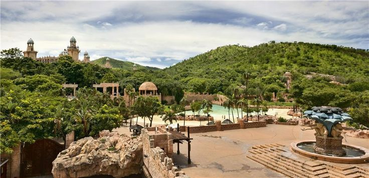 View of the Monkey Spring Plaza and the Valley of the Waves