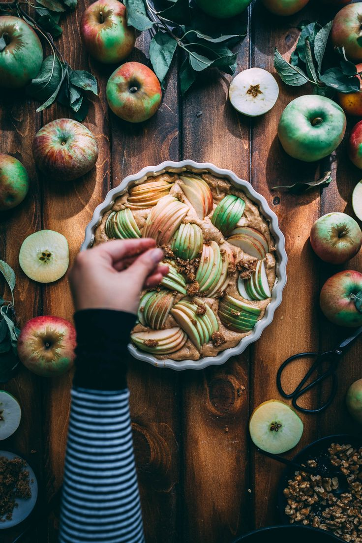 So excited that it is apple season! This Apple Walnut Yogurt Coffee Cake recipe is the perfect fall sweet breakfast or afternoon snack. Serve it with a cup of coffee or peppermint tea.