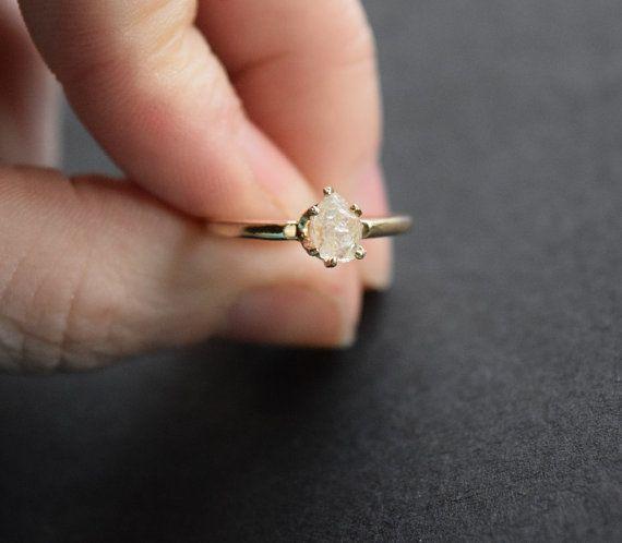 Taille 65 14 k or diamant bague bague de fiançailles par Avello