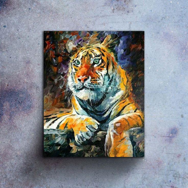 Amazing Tiger!  Länk till produkt: http://www.feelhome.se/produkt/amazing-tiger/  #Homedecoration #Canvas #olipainting #art #interior #design #Painting #handpainted #Walldecor #väggdekor #interiordesign #canvastavla #canvastavlor #amazing #tiger #animal #djur