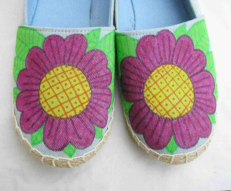 Blue tropical shoes, Hand painted Shoes, blue espadrilles, blue shoes, AU 9 EU 40 US 9 upcycled canvas shoes, art to wear wearable art shoes by Rethreading on Etsy